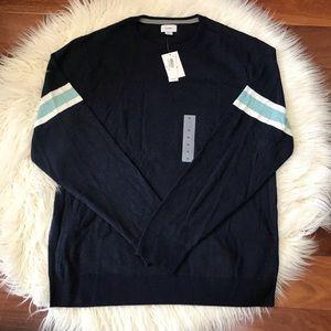 Navy Blue Cotton Crewneck Sweater Size XL